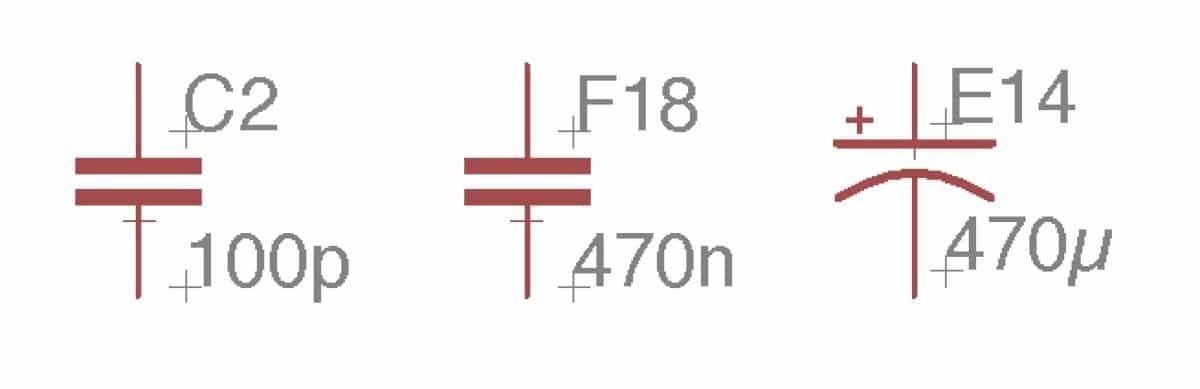 capacitors symbols