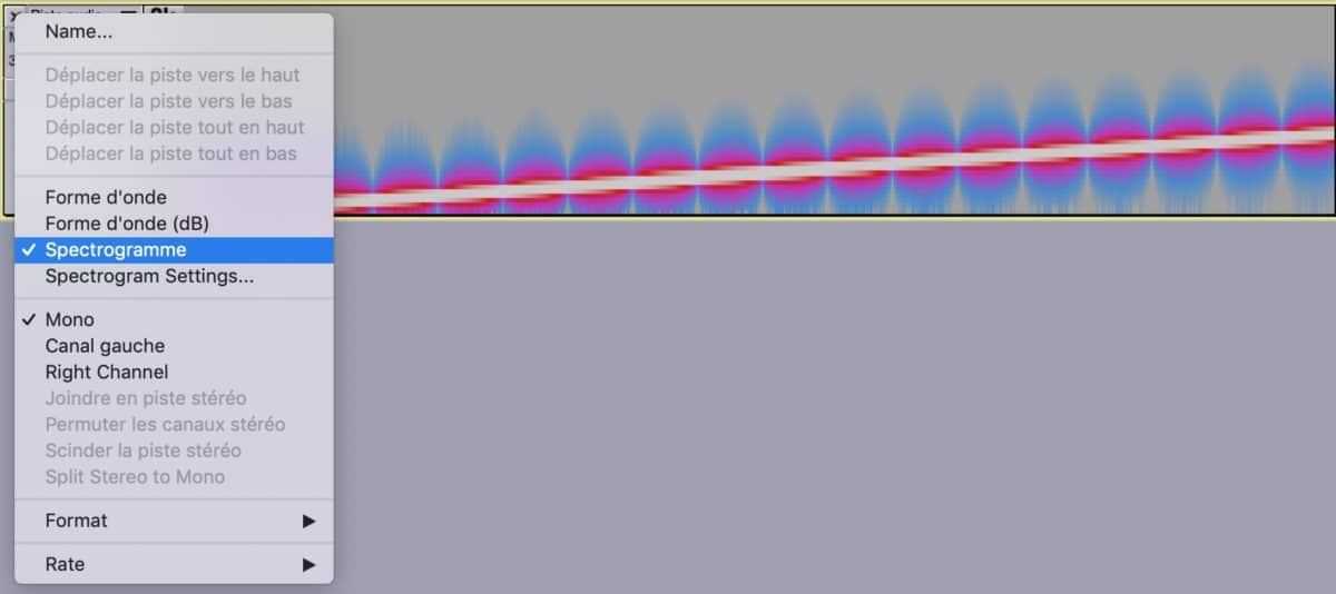 Afficher spectrogramme