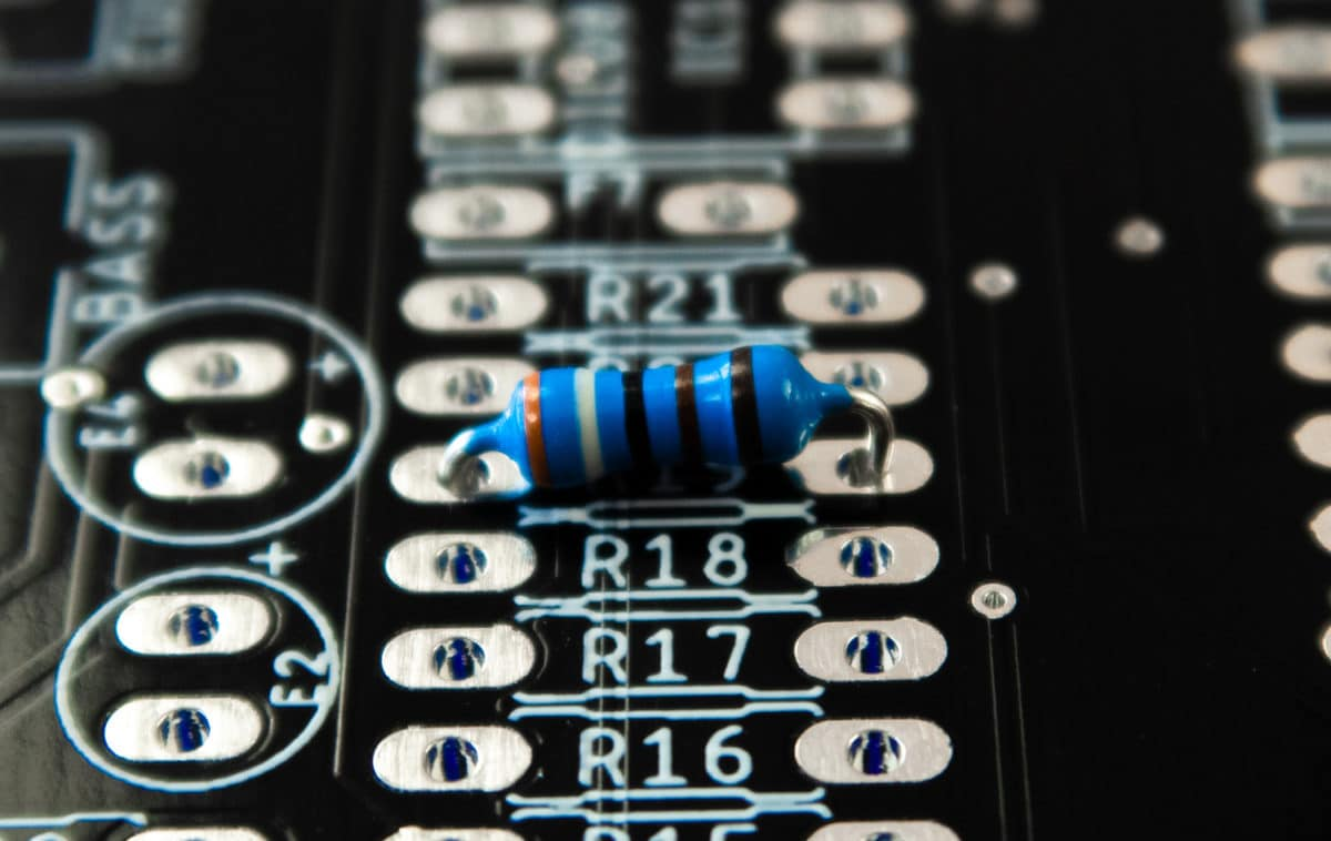 resistor on pcb