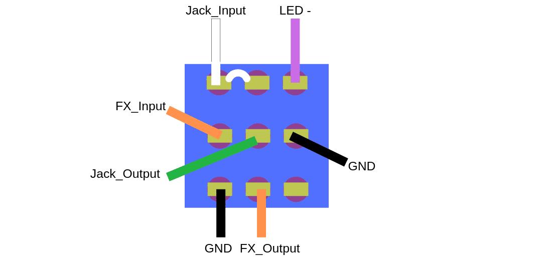 3PDT câblé